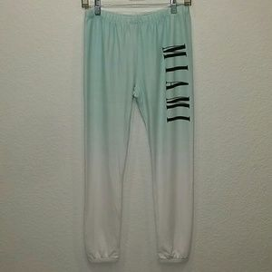 Wildfox Miami Pants Iced Blue Ombre Size Small NWT